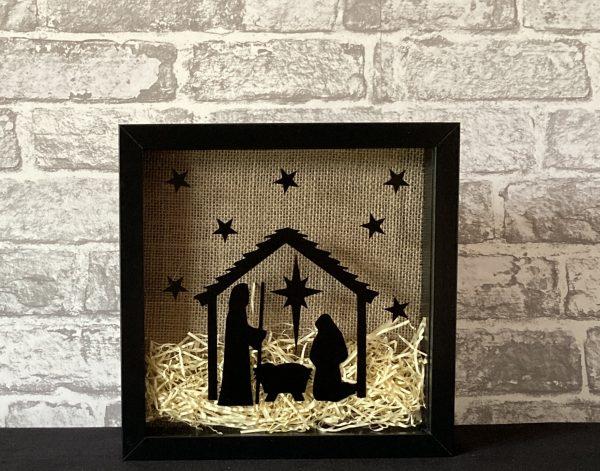 Traditional Nativity Framed Art