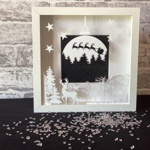 Globe with Deer in Forest Framed Art