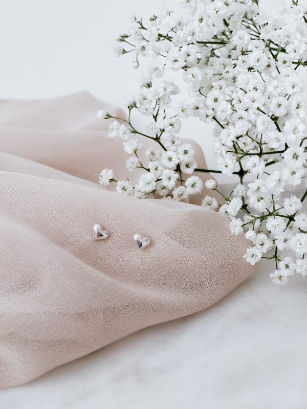 Sweetheart 925 Sterling Silver Stud Earrings - IMG 5945