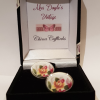 Cufflinks with Vintage Bone China: Yellow Rose