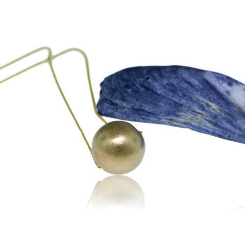 JewelArt Sphere Pendant Brushed Finish - Yellow Gold Plated - JewelArt sphere GP brushed pendant 2