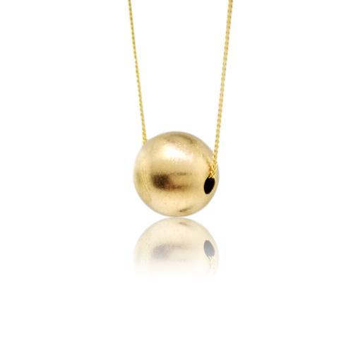 JewelArt Sphere Pendant Brushed Finish - Yellow Gold Plated