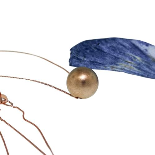 JewelArt Sphere Pendant Brushed Finish - Rose Gold Plated - JewelArt sphere RGP brushed pendant 1