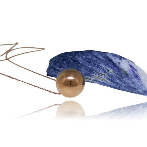 JewelArt Sphere Pendant Mirror Finish - Rose Gold Plated - JewelArt sphere RGP mirror pendant 2