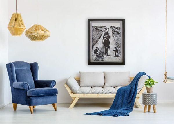 Down The Boreen-original painting on wood - KELLYHOOD.COm DOWN the Boreen Lifestyle