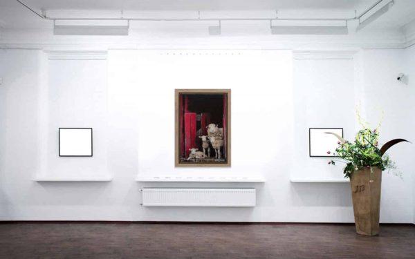 Peek A EWE - Original Framed Painting - KELLYhood.com PEEK A EWE LARGE