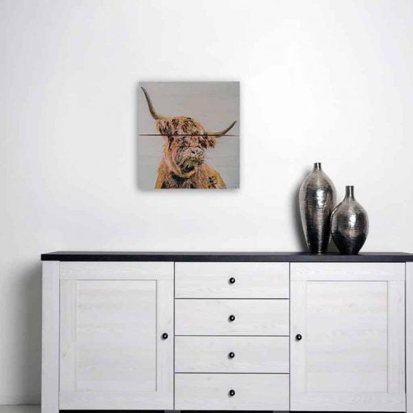 Hamish - Original Painting on Wood - Kellyhood.com HAMISH PAINTING on WOOD01