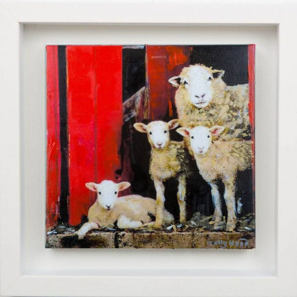 Peek A EWE - Small Framed Painting - Kellyhood.com PEEK A EWE SMALL