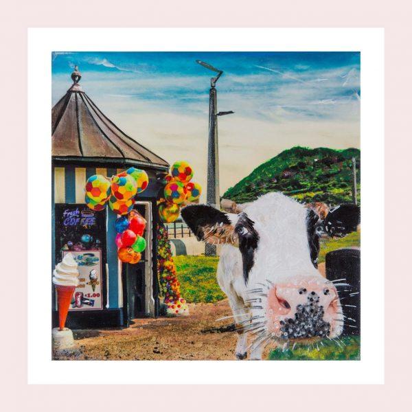 Moo Selfie on Bray Promenade - Original Print - Kellyhood.com SELFIE on Bray Prom