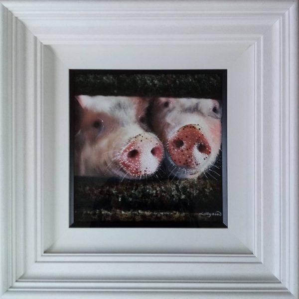 Porkies - Framed Original Painting - Kellyhood.ie Porkies scaled 1 scaled