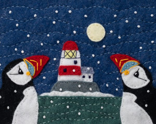 Lighthouse and Puffin Christmas Cards