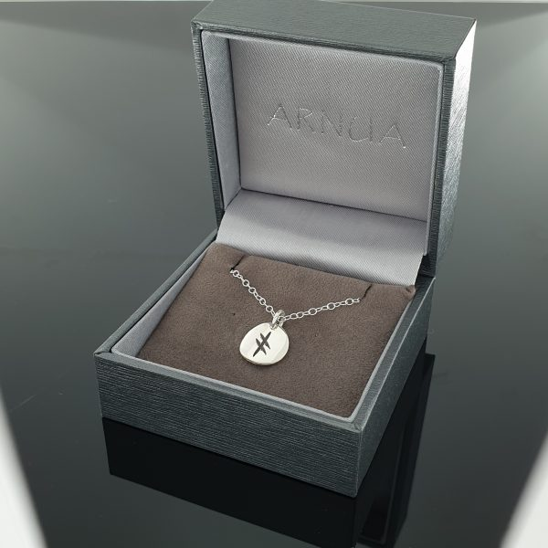 Ogham Initial Pendant - Ogham Initial Pendant   Sterling Silver 1 disc boxed scaled