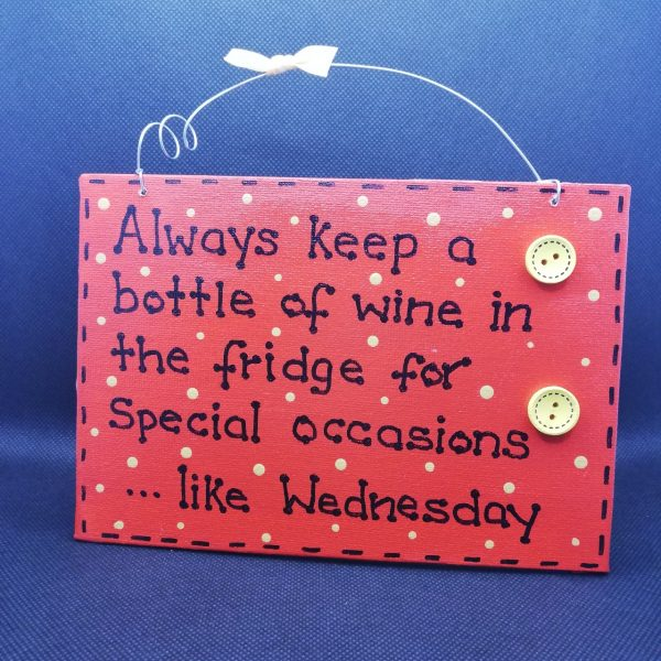 Funny Wall Sign - Wine