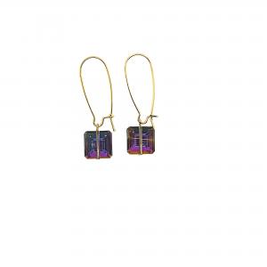 Prism pink purple earrings