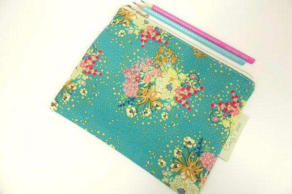 Green Floral Makeup Bag - RX300258