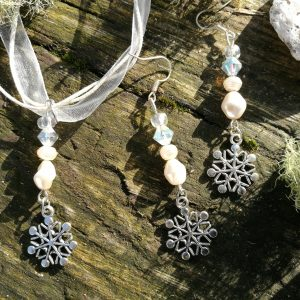 Christmas Ribbon Necklace & Earring Sets