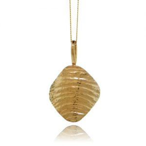 Ripple Arc Pendant - Yellow Gold Plated