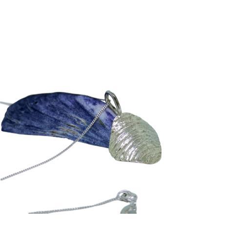 Ripple Arc Pendant - Sterling Silver - Ripple arc pendant silver 1