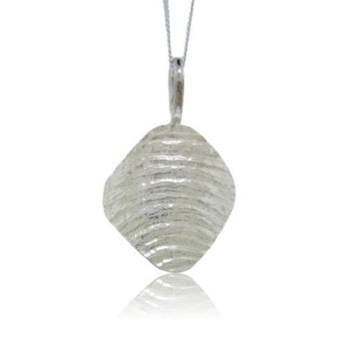 Ripple Arc Pendant - Sterling Silver