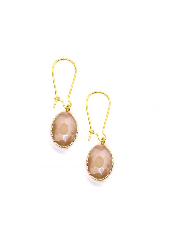 Vintage earrings gold and pink