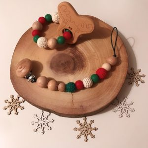 Traditional Xmas Soother Chain and Teether Set