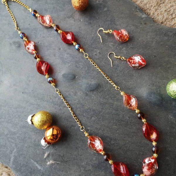 Red Twist Necklace