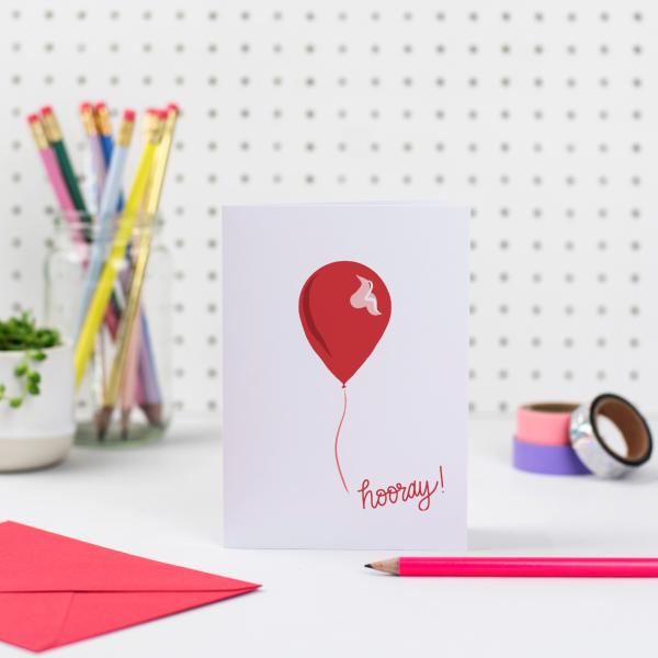 Hooray Birthday Balloon Card
