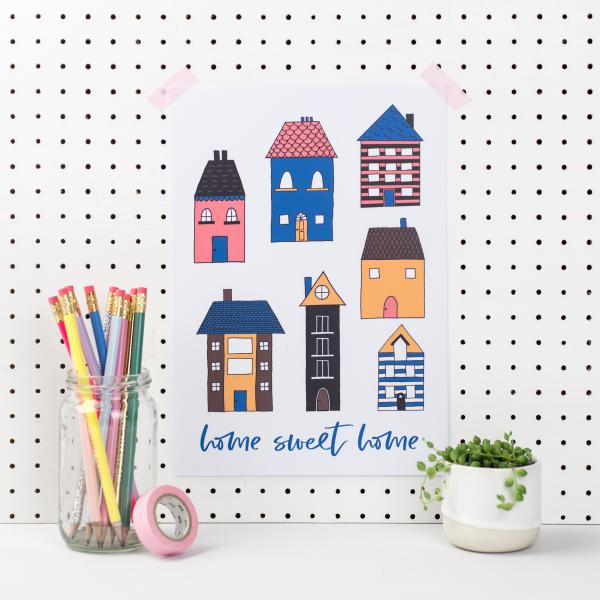 Home Sweet Home Art Print - VictoriaCasey HB Apr19 27