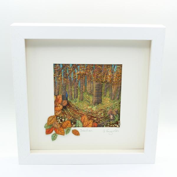 The Seasons - Autumn/Fómhar Framed Textile Art - autumn framed