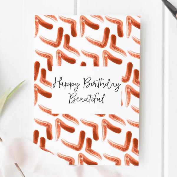 Happy Birthday Beautiful Card - birthday beautiful 2