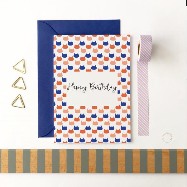 Happy Birthday Mini Cats Card