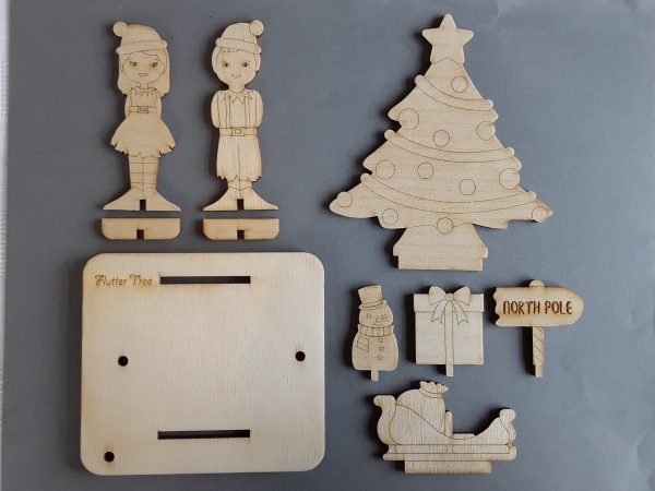 Christmas activity kit pieces