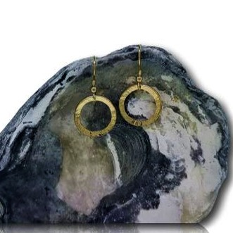 Full Circle Earrings - Yellow Gold Plated - col full circle drop er gp 3