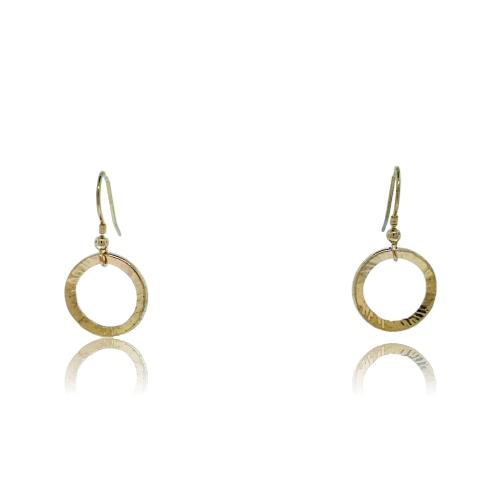 Full Circle Earrings - Yellow Gold Plated