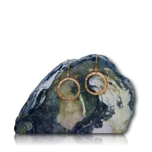 Full Circle Earrings - Rose Gold Plated - col full circle drop er rgp 2