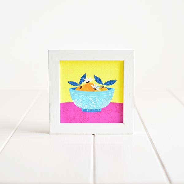 Lemons in a Bowl - Framed Giclée Art Print