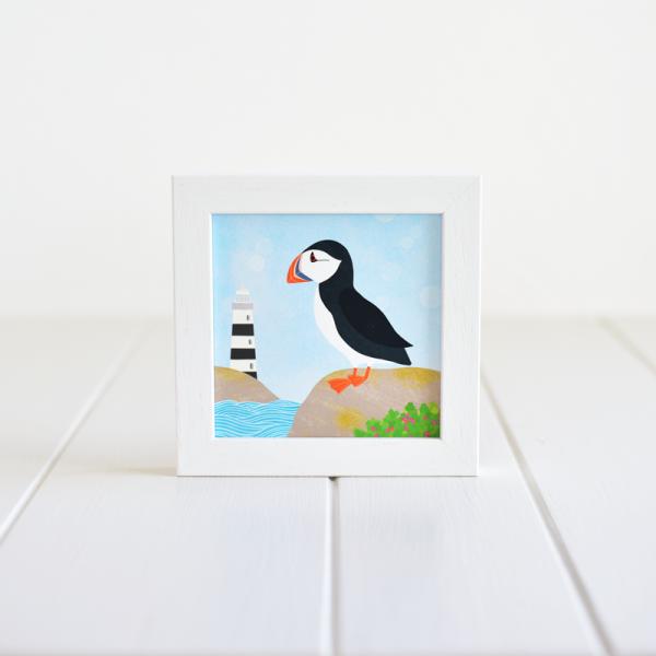 Puffin - Framed Giclée Art Print