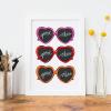 Good Vibes Heart Sunglasses Art Print