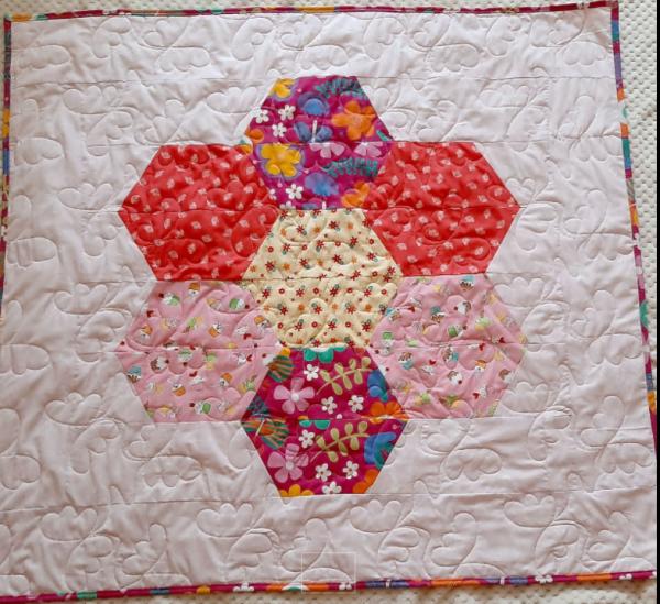 Hexagon Baby Quilt -