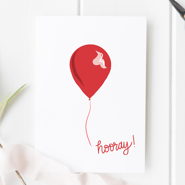 Hooray Birthday Balloon Card - hooray new balloon 2 copy