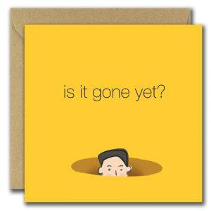 Is it gone yet? (Happy New Year)