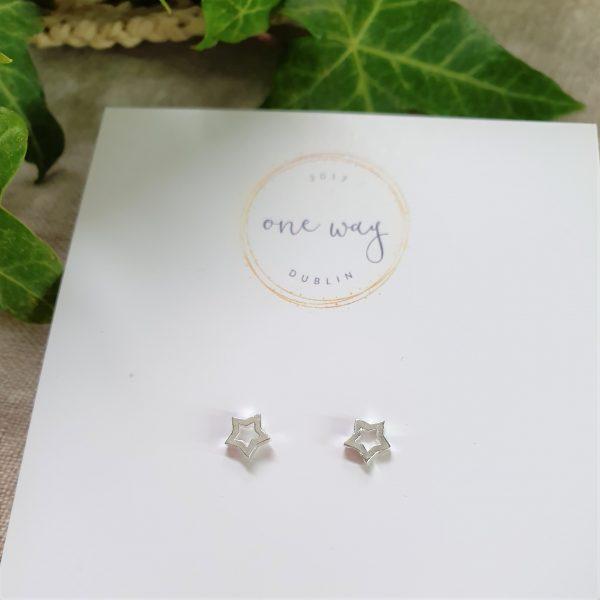 Mini Outline Star Earrings - mini outline star 2