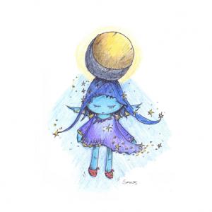 Moonchild - Square Print