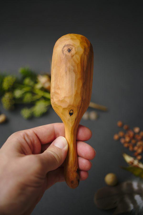 Large wooden scoop | Hand carved apple wood | No. 121 - nlk04738