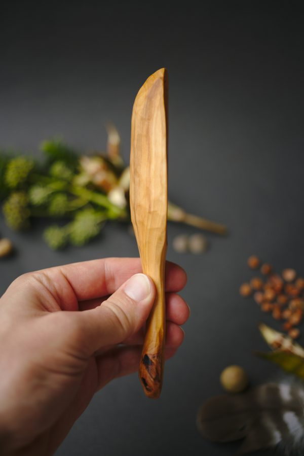 Large wooden scoop | Hand carved apple wood | No. 121 - nlk04739