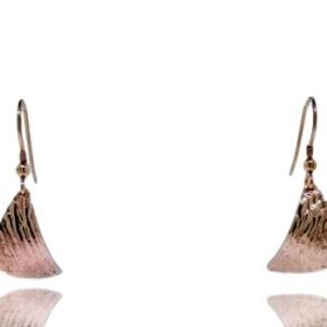Ripple Curved Earrings - Rose Gold Plated