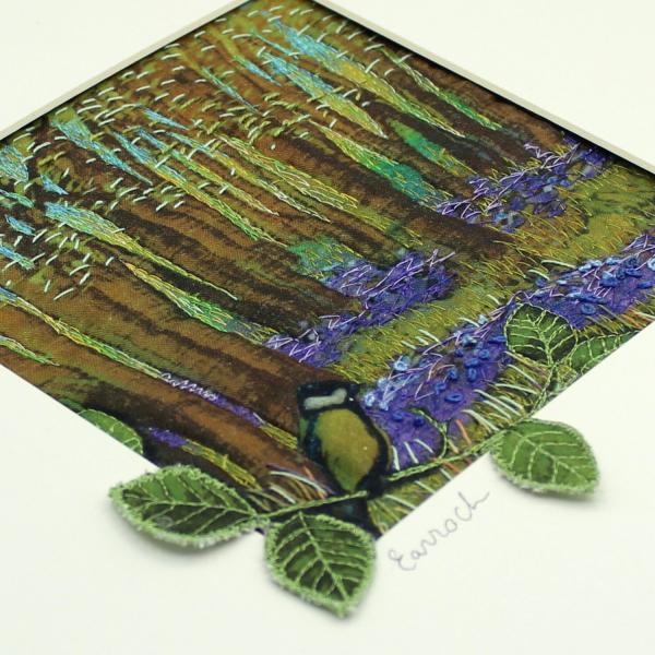 Spring/Earrach Framed Textile Art