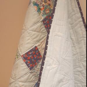 Blue Fabrics Patchwork Baby Quilt