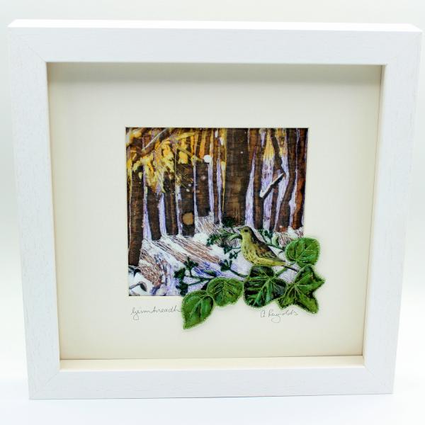 The Seasons - Winter/Geimhreadh Framed Textile Art - winter framed