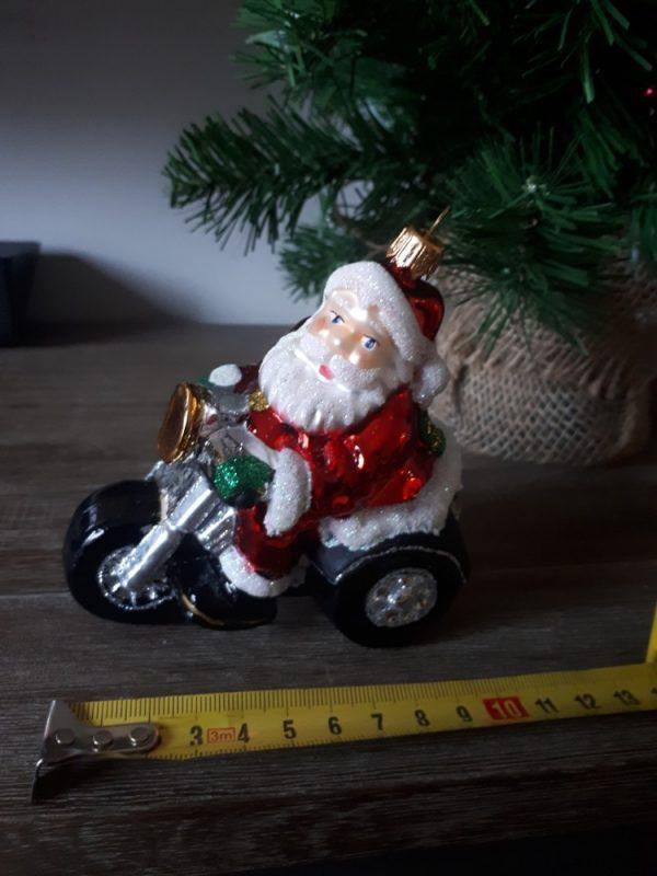 Santa on Motorbike Christmas Tree Decoration - 20200924 084955